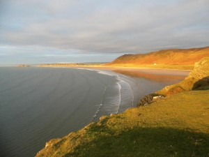 Rhossili beach, voted one of the top ten in the world