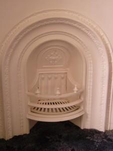 Original bedroom fireplace