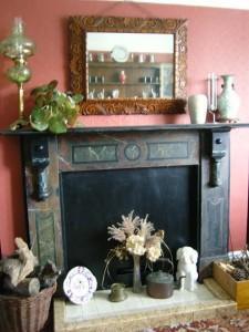 Original dining room fireplace